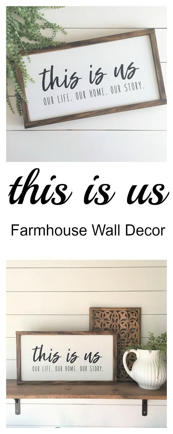homedecor pallets #homedecor This is us | Our life. Our home. Our Story. | Farmhouse Framed Wood Sign Decor