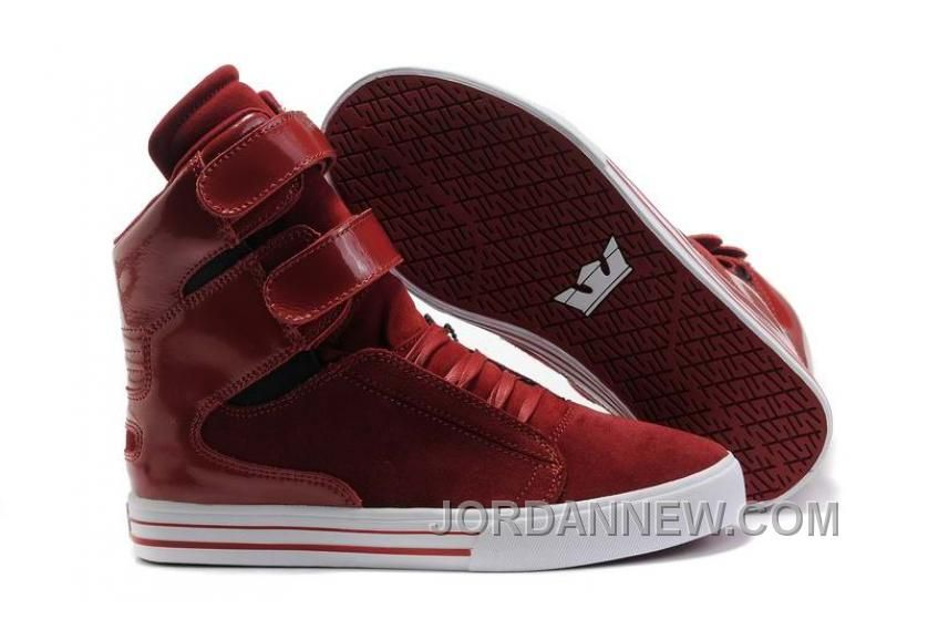 40858934f7c Justin Bieber Supra Shoes For Girls TK Society Red Suede Dark Red clearance  this chirstmas day
