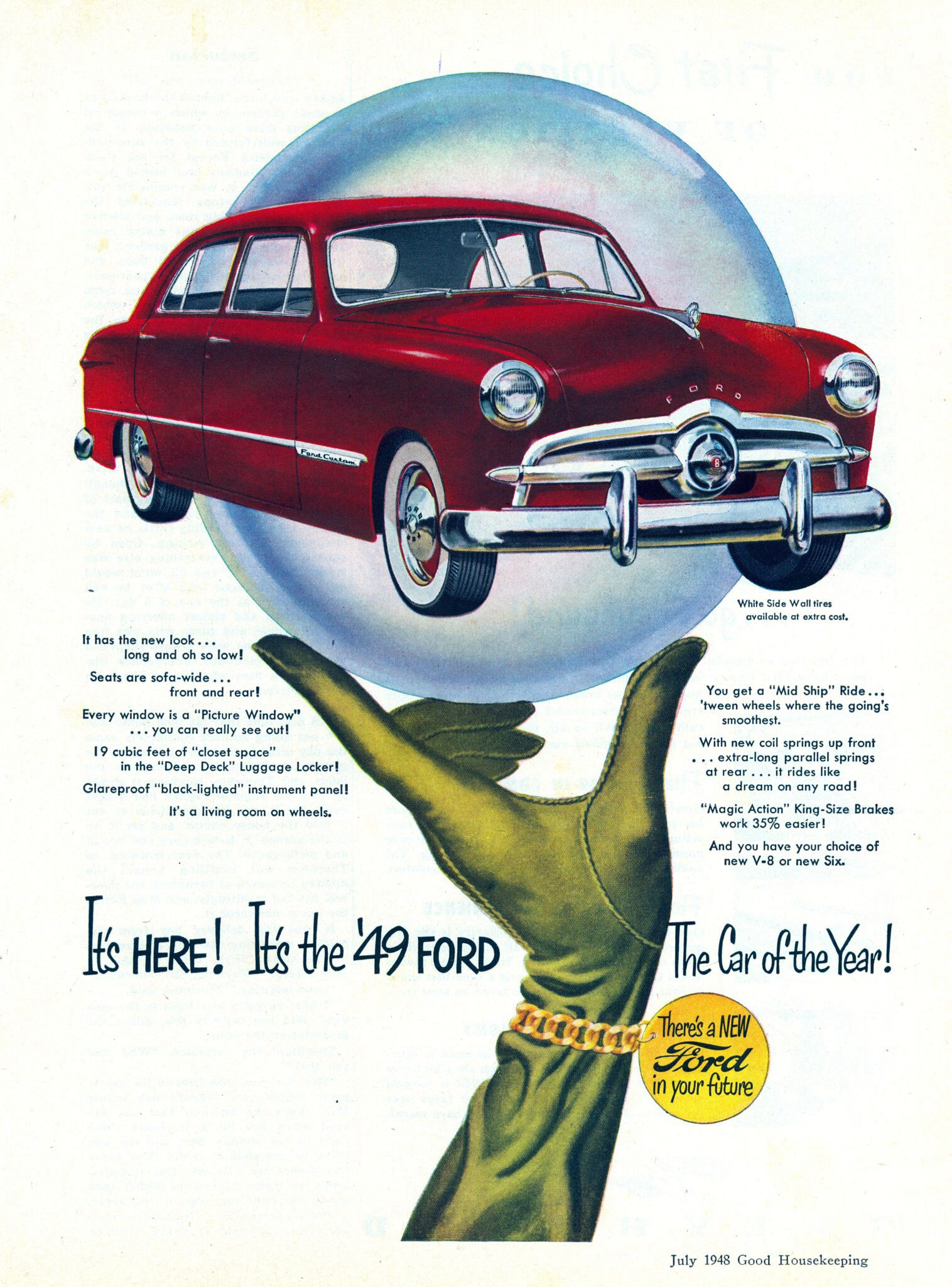 1948 Via File Photo Ford Shoebox Car Advertising Ford