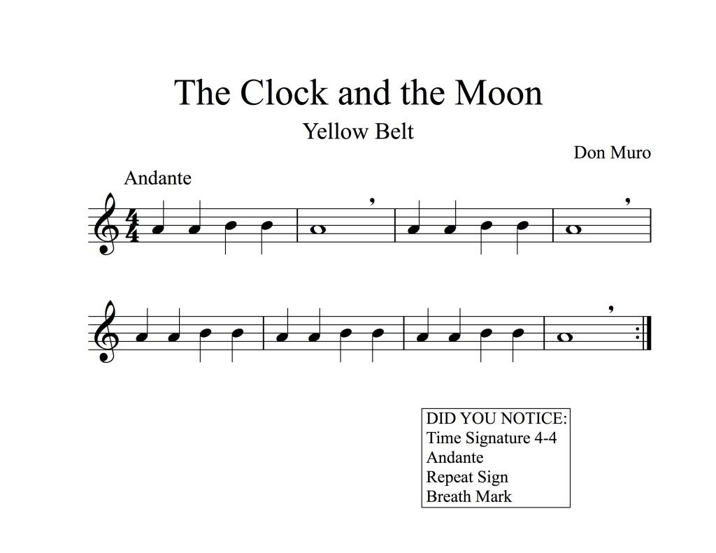 Free Printable Music And Instructions For Recorder 3rd