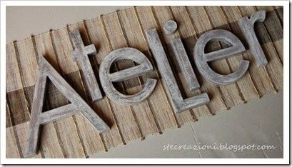 Lettere Di Legno Colorate : Lettere decorative