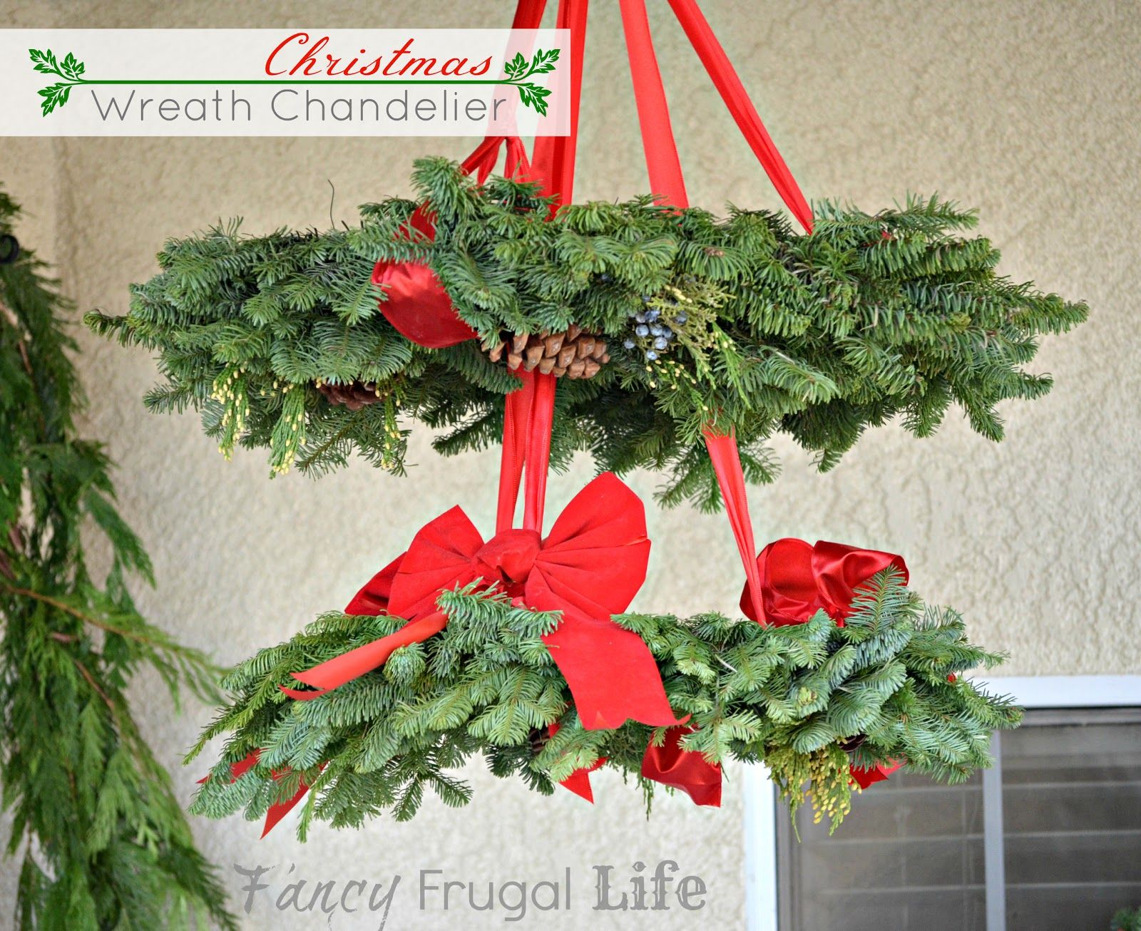 Fancy Frugal Life Stacked Poinsettia Tree Shelf & Christmas