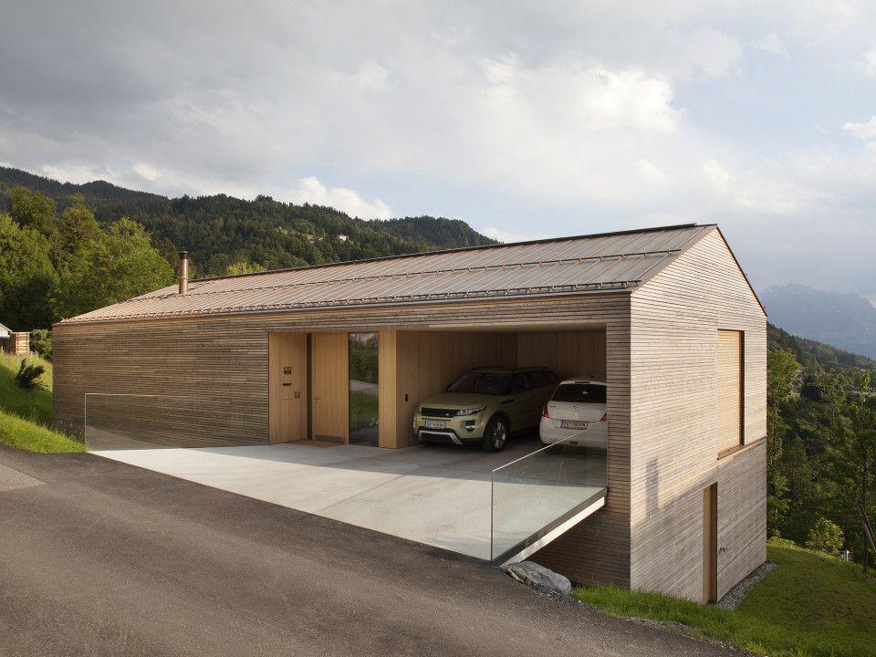 Garagen Gunstig Minimalist : Haus b zwischenwasser dietrich untertrifaller architekten