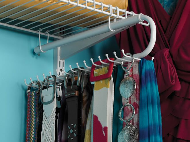 Tie Amp Belt Organizer For Use With The Homefree Closet