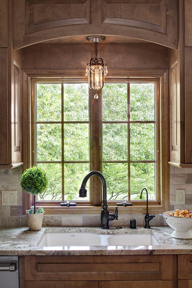A Raised Arch Valence By The Kitchen Sink Window Kitchen Sink