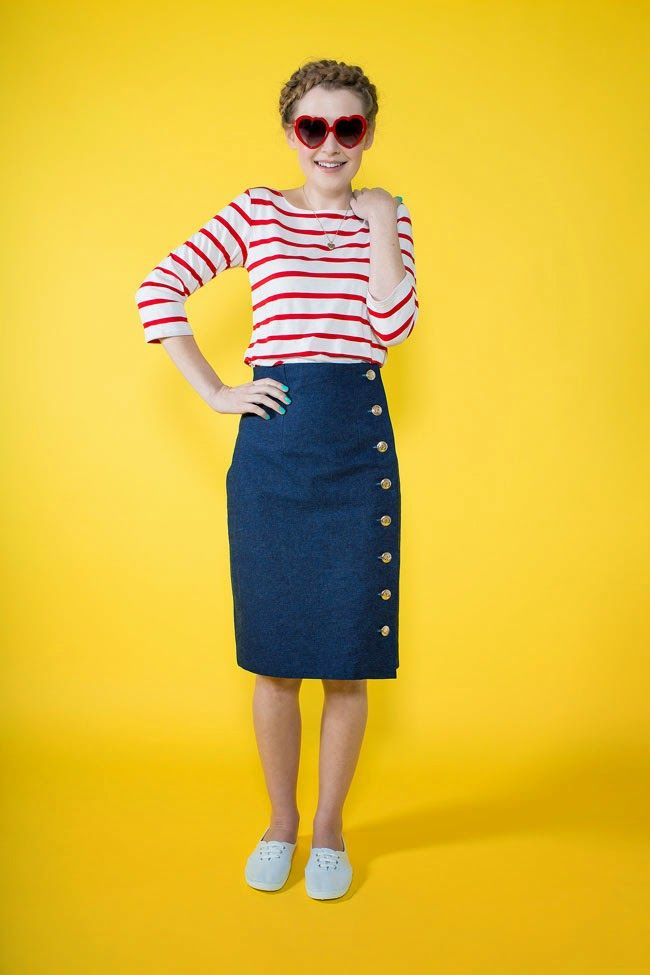 "Meet our new sewing pattern – the Arielle skirt! Arielle [""ah-ree ..."