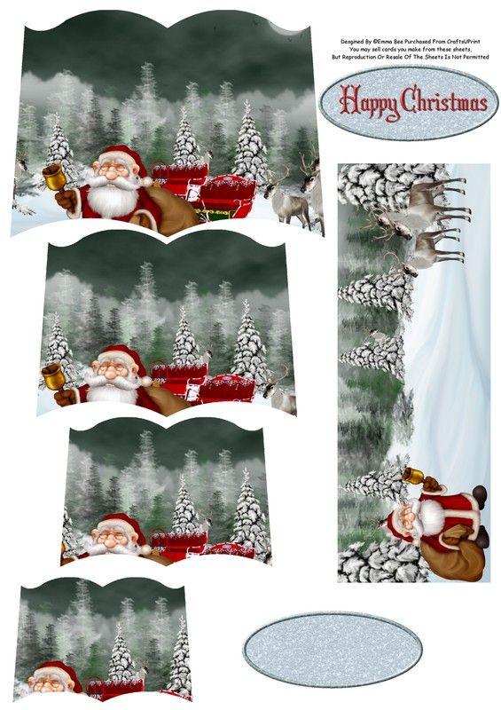 Carte De Noel 3d A Imprimer.Carte Pop Up Pere Noel 3 3d Christmas Carte Noel Noel