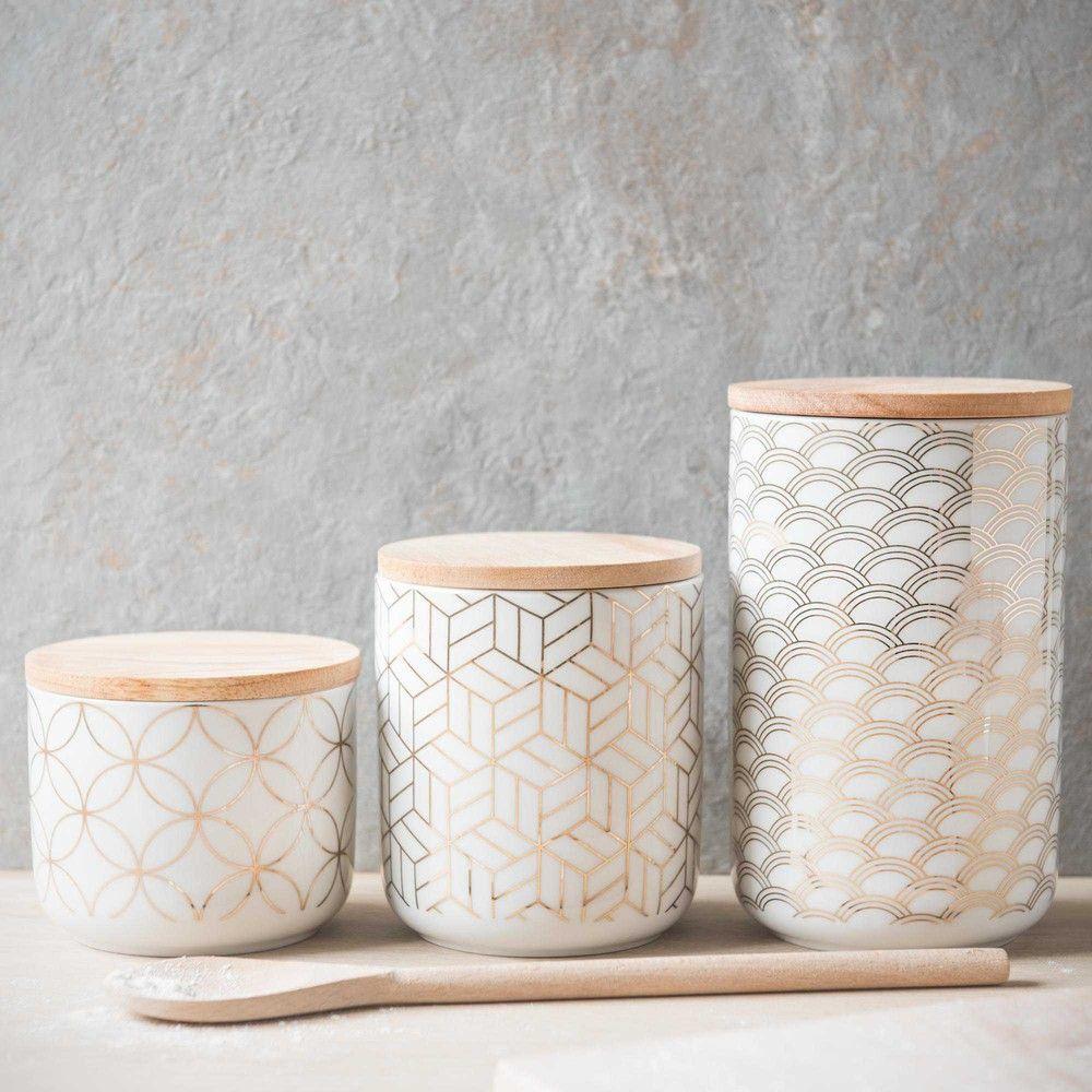 Topf aus Steingut H 8 cm | Kitchens, Kitchen accessories and House