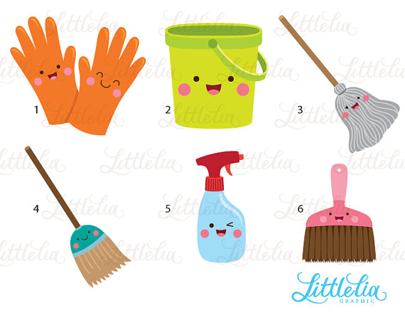 Cleaning Kawaii Clean Day Kawaii 16087 Etsy In 2020 Cleaning