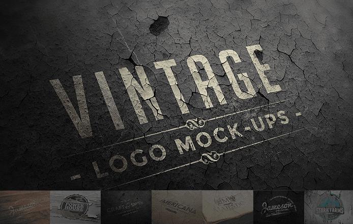 Free Psd Vintage Logo Mockups Collection Vintage Logo Logo Mockup Mockup Templates
