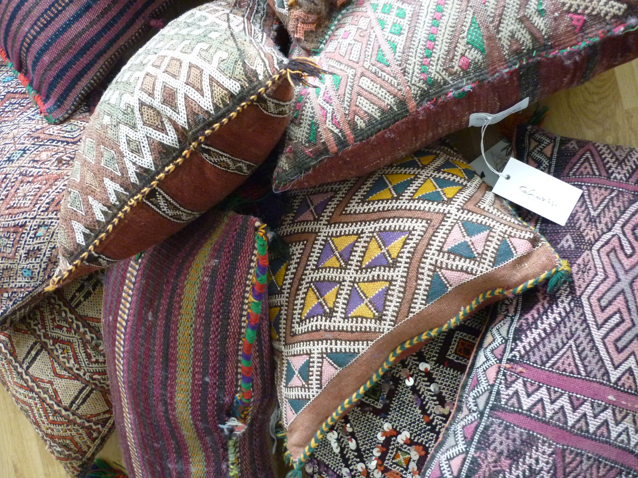 Kelim Kissen vintage kelim kissen marokko schoenebeute ghanin interior
