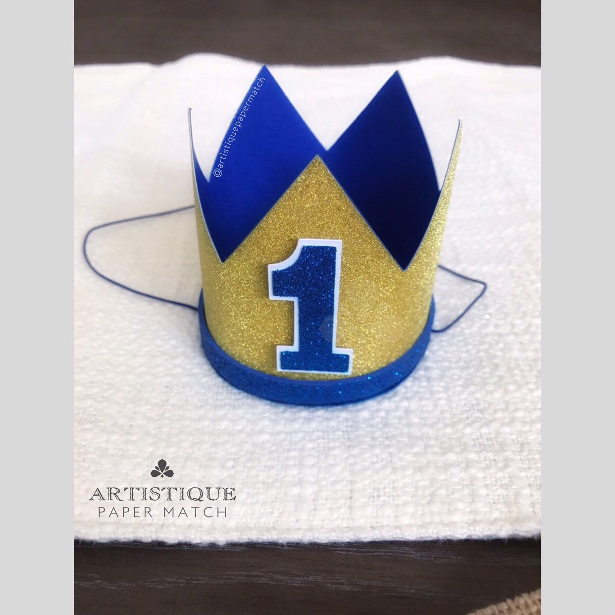 Little Prince Party Hat Boy First Birthday Crown 1st Etsy In 2021 1st Birthday Hats Little Prince Party First Birthday Crown