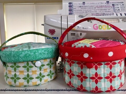 Sewing Basketソーイングバスケット – Patchwork Quilt パッチワークミシンキルトNakazawa Felisa 中沢フェリーサ