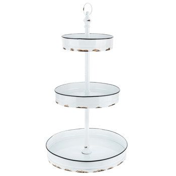 Distressed White Three Tiered Metal Stand Hobby Lobby Hobby Lobby Furniture Hobby Lobby Wedding Invitations Tiered Stand