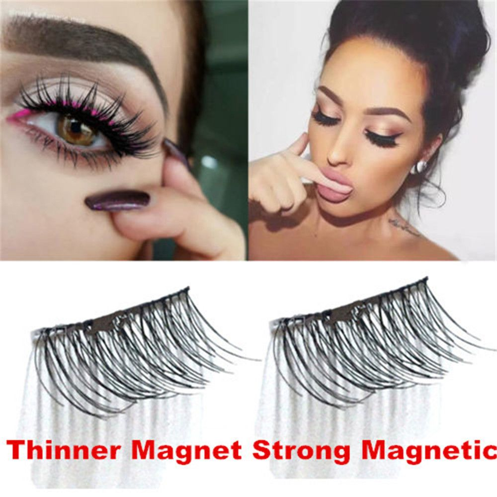 3d Magnetic False Eyelashes No Glue Thinner Magnet Eye Lashes