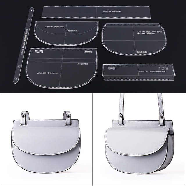 Photo of Online Shop Leather Handmade Craft Women Strap Shoulder Bag Sewing Pattern Acrylic Stencil Template Sewing Accessories With Hole 22×16.5x7cm   Aliexpress Mobile