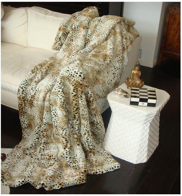 luxury cheetah faux fur throw courtesy of instyle decor com beverly