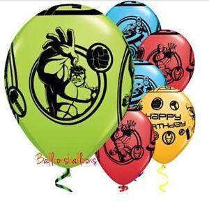 "8 X Avengers Hulk Captain America Ironman Latex 11"" Balloons Decoration Party | eBay"