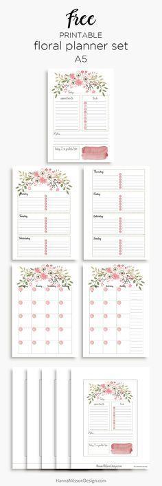 Imprimir a parte mensal organización Pinterest Planner inserts