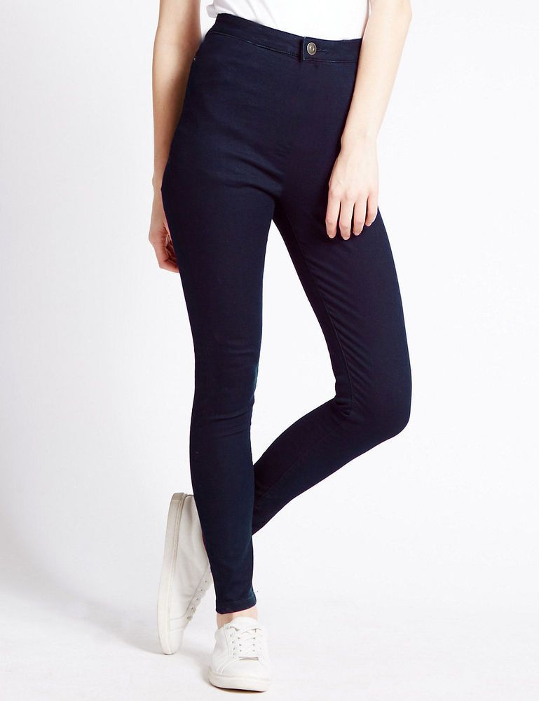 08ba8dadc3 New LADIES WOMEN HIGH WAISTED SEXY SKINNY JEANS PANTS SIZE 6 8 10 12 14 16