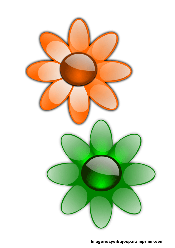 Flores de colores para imprimir | Proyectos que intentar | Pinterest ...