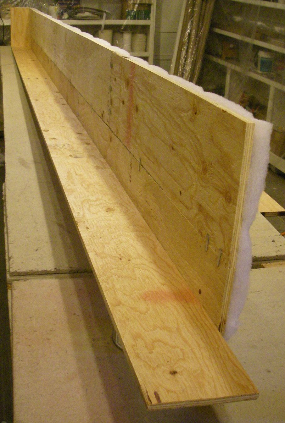 Edge joining plywood to make a long cornice board strong