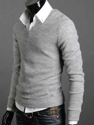 14993adca7 Basic sweater over a button up.