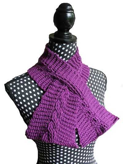 Crochet - Winter Warmer Patterns - Cable Keyhole Scarf   Crochet ...