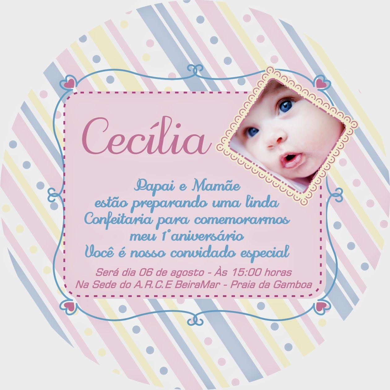 Roteiro Baby Floripa Frases Para O Convite De 1 Ano Dia De Festa