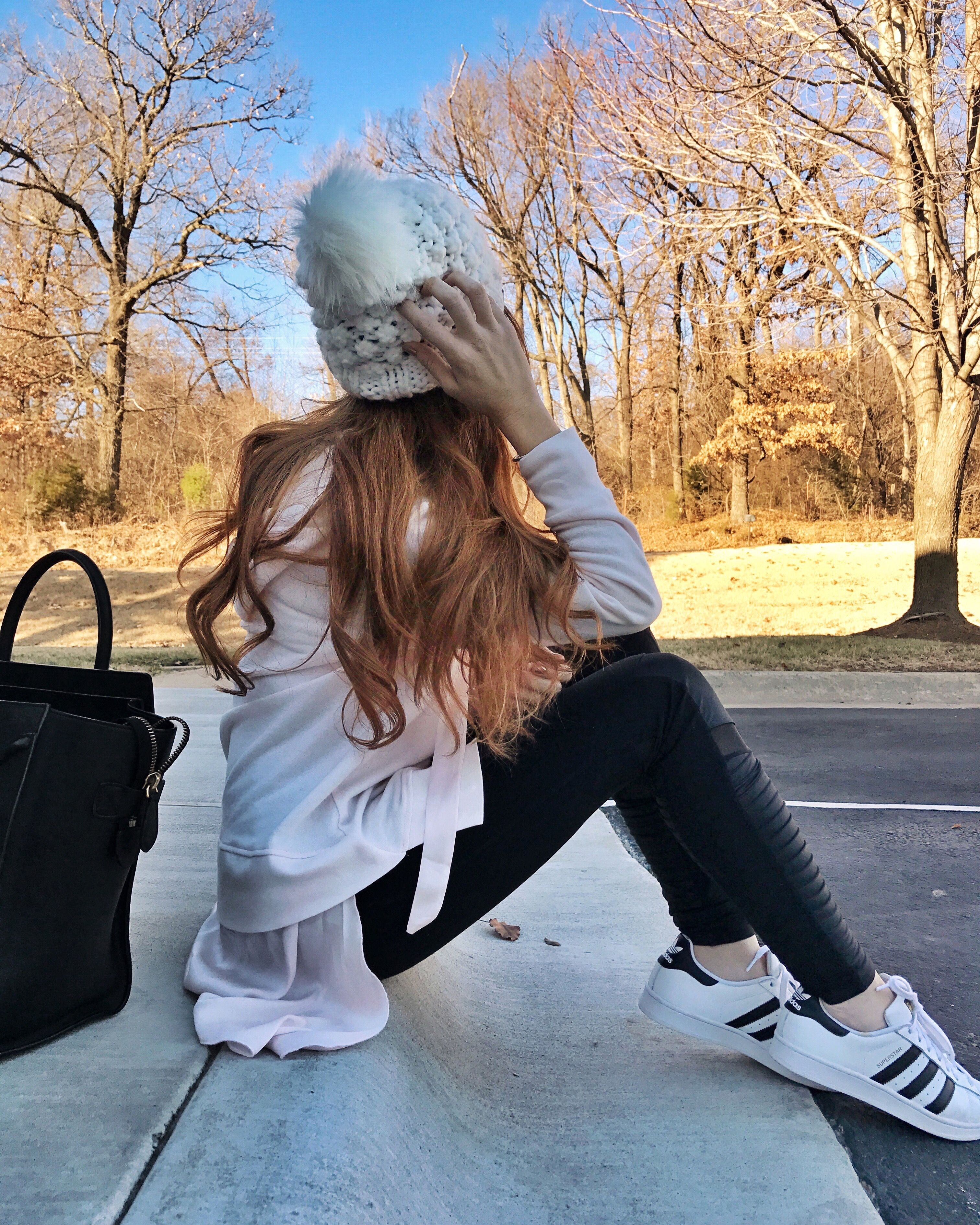 casual look with adidas