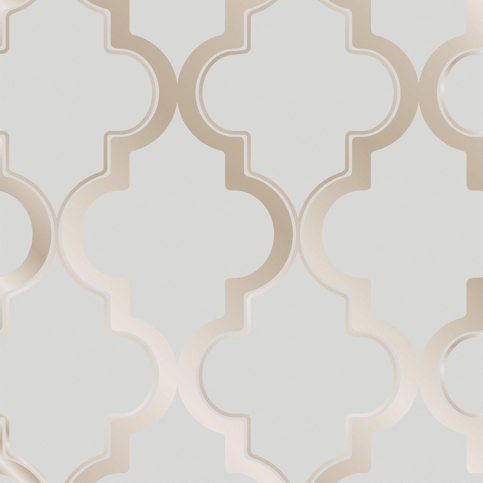 Marrakesh Self Adhesive Wallpaper In Bronze Grey Design By Tempaper