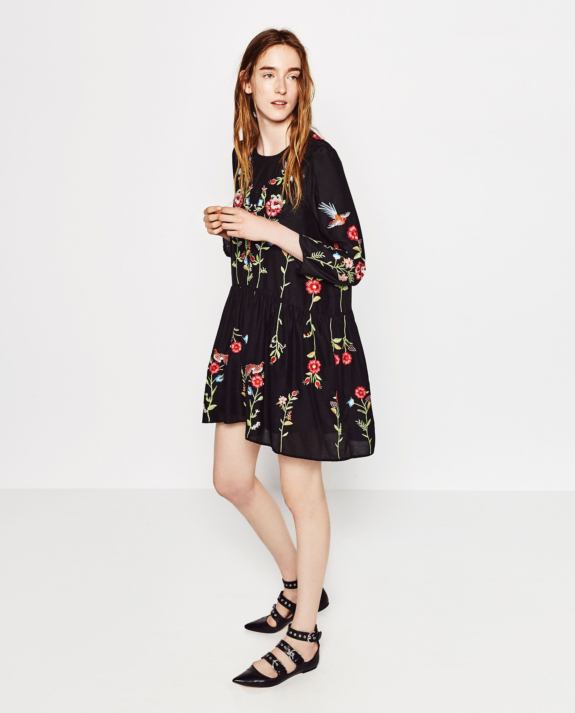 Zara Embroidered Dress | Two Looks