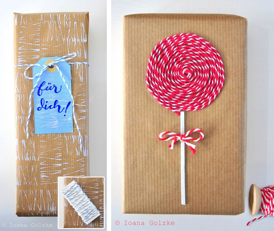 easy peasy diy geschenke mit b ckergarn carte de fete cartes et f tes. Black Bedroom Furniture Sets. Home Design Ideas