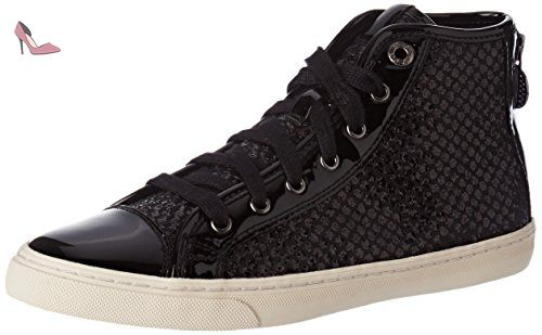 Geox Jaysen A, Sneakers Basses Femme, (Black), 42 EU