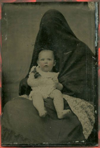 Ghost Hidden Mother with Child Original Tintype Victorian Cabinet Photograph   eBay