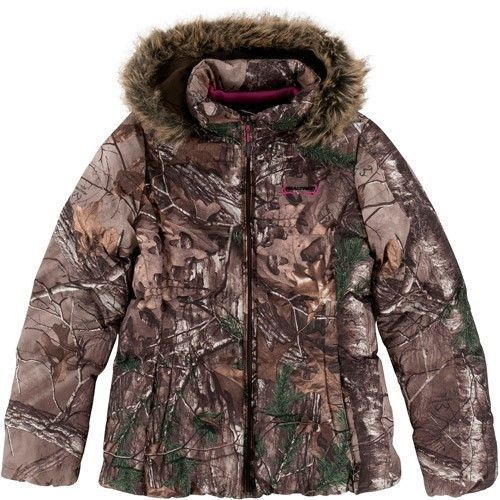 Womens Realtree Camo Jacket Pink Insulation Coat Hunting