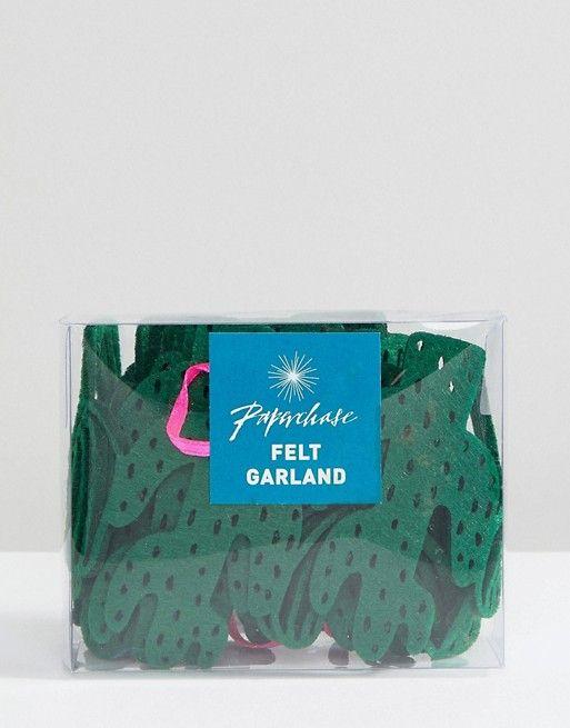 Paperchase Holidays Cactus Garland Decoration | Felt ...