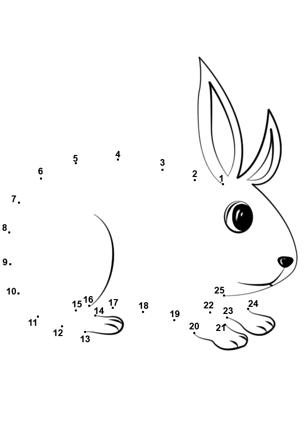 Connect numbers to make a picture, Printables for kids
