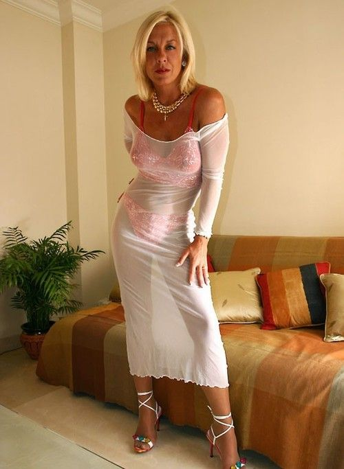 Slim blonde milf