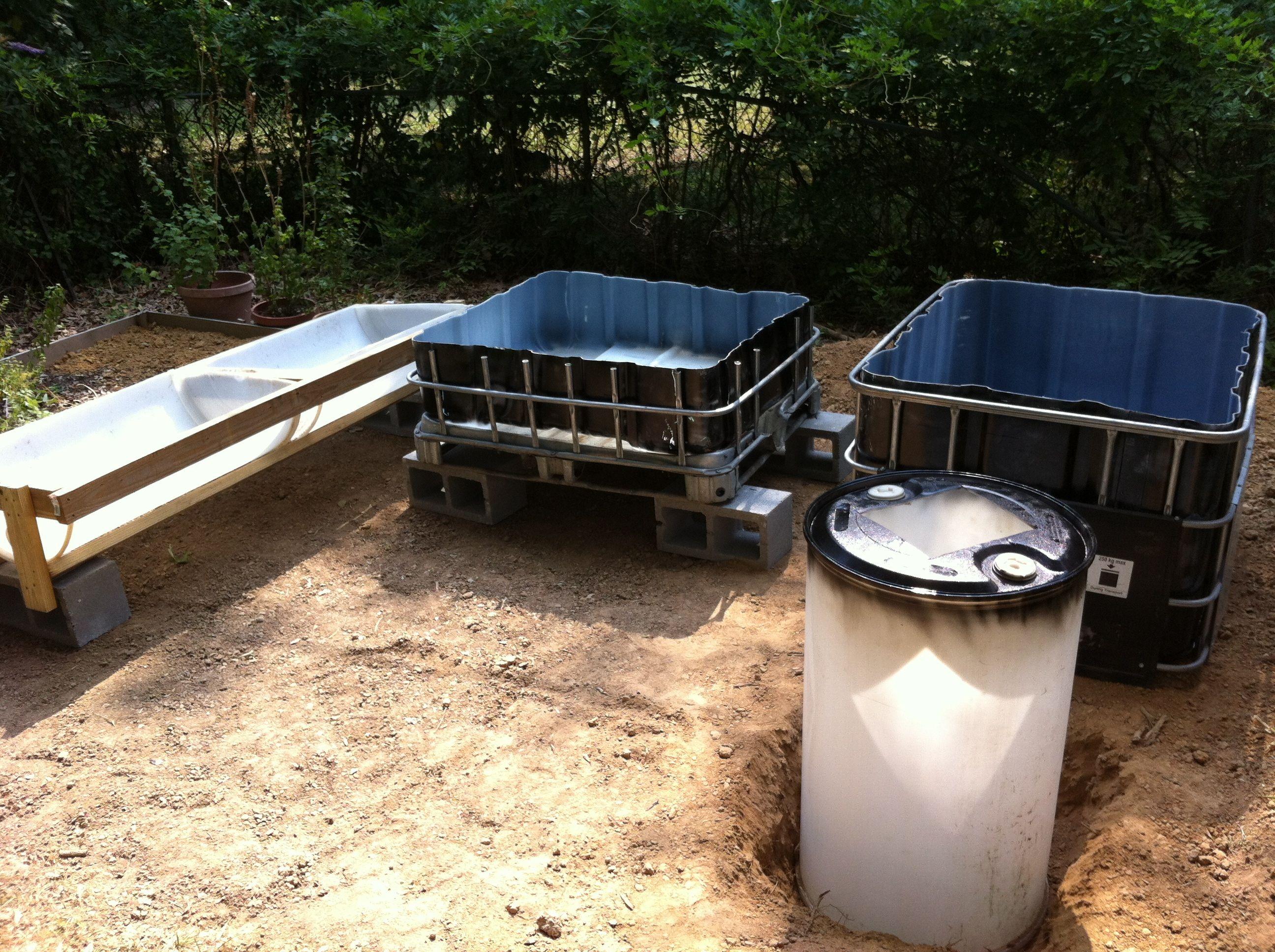 Ibc Fish Tank And Barrel Grow Beds Aquaponics Fish Tank Jobs