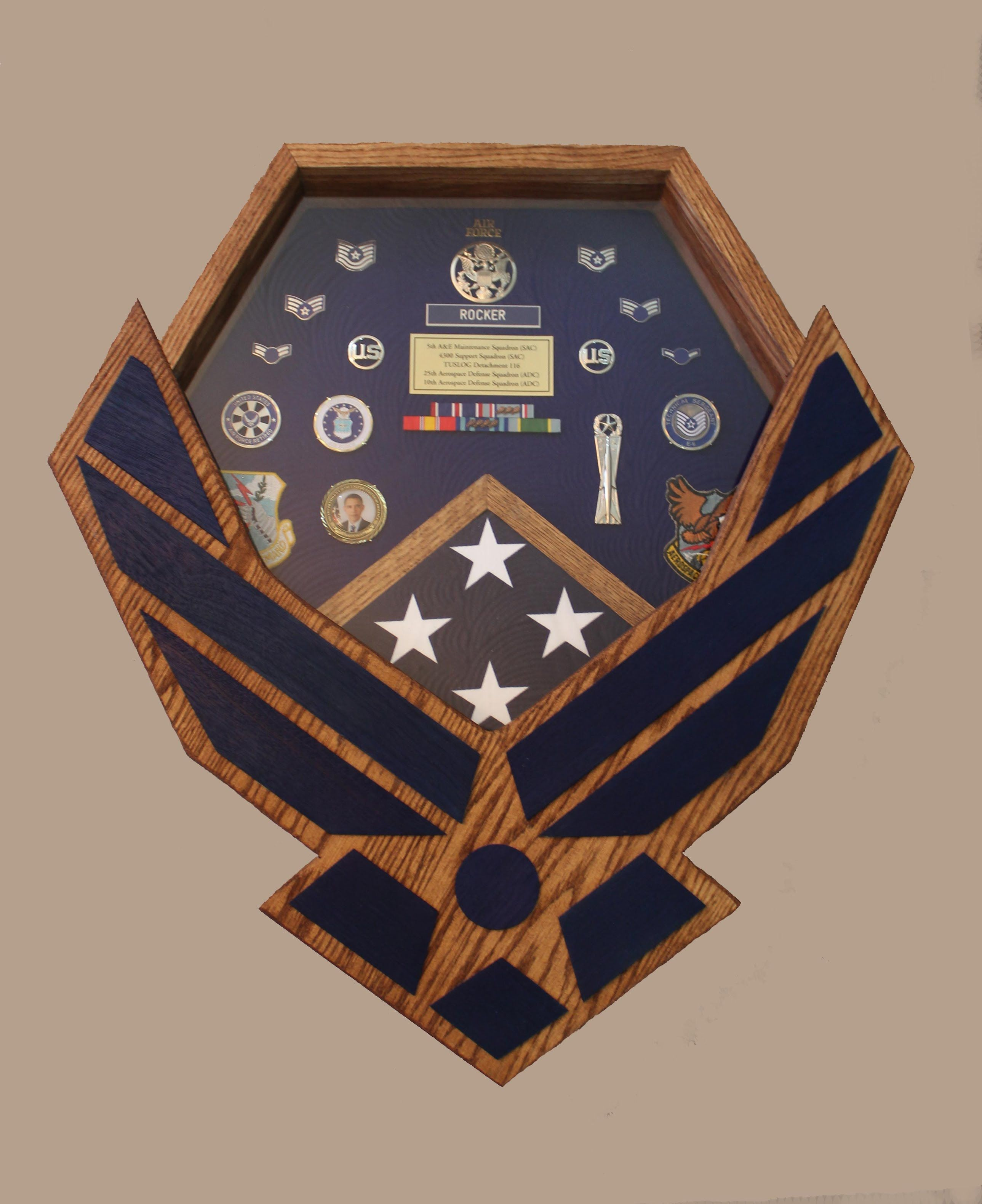 How to build your own Air Force Shadow Box DIY Diy