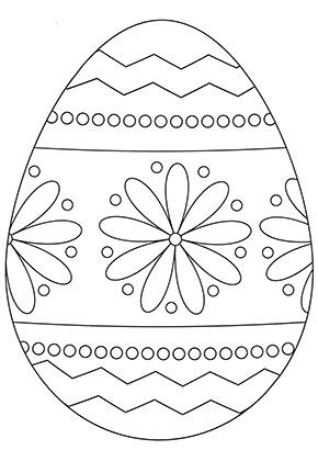 Osterei Ausmalbild Mit Blumenmuster Osterei Ausmalbild Ostereier Ausmalen Ostern Zum Ausmalen