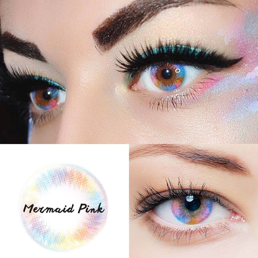 Vcee Mermaid Pink Colored Contact Lenses Contact Lenses Colored Colored Contacts Contact Lenses
