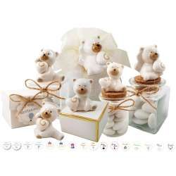 Bomboniere orsetti di porcellana con cuore - 12 pz ...