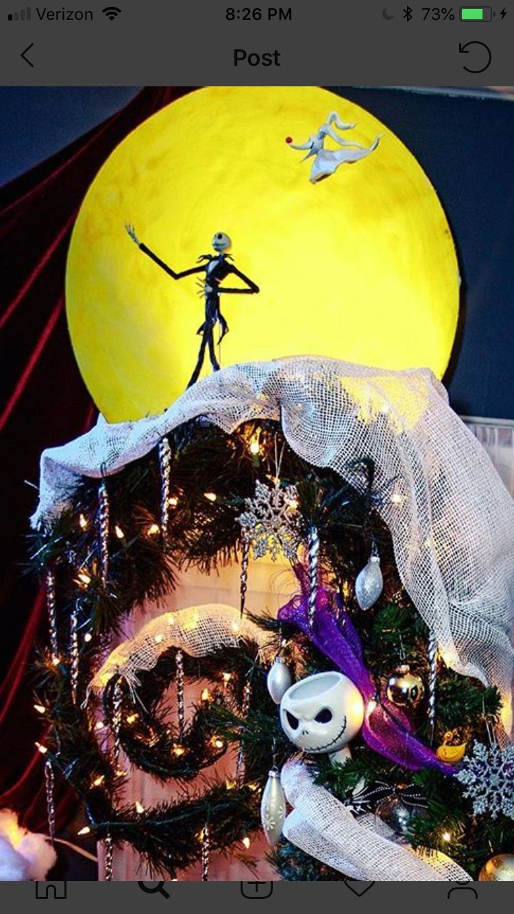Tim Burton Christmas Tree.Pin By Michele Oliveira On Nbc In 2019 Nightmare Before