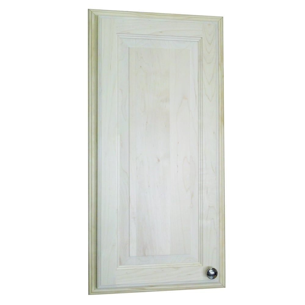 Wg Wood Products Baldwin Recessed Solid Medicine Cabinet 18 To 34 Inches 31 5