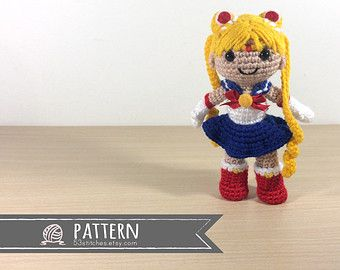 Amigurumi Learn : Sailor moon amigurumi crochet doll pattern just want this one to