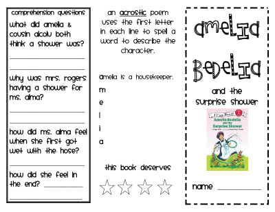 Amelia Bedelia and the Surprise Shower. Use for First Grade Common ...