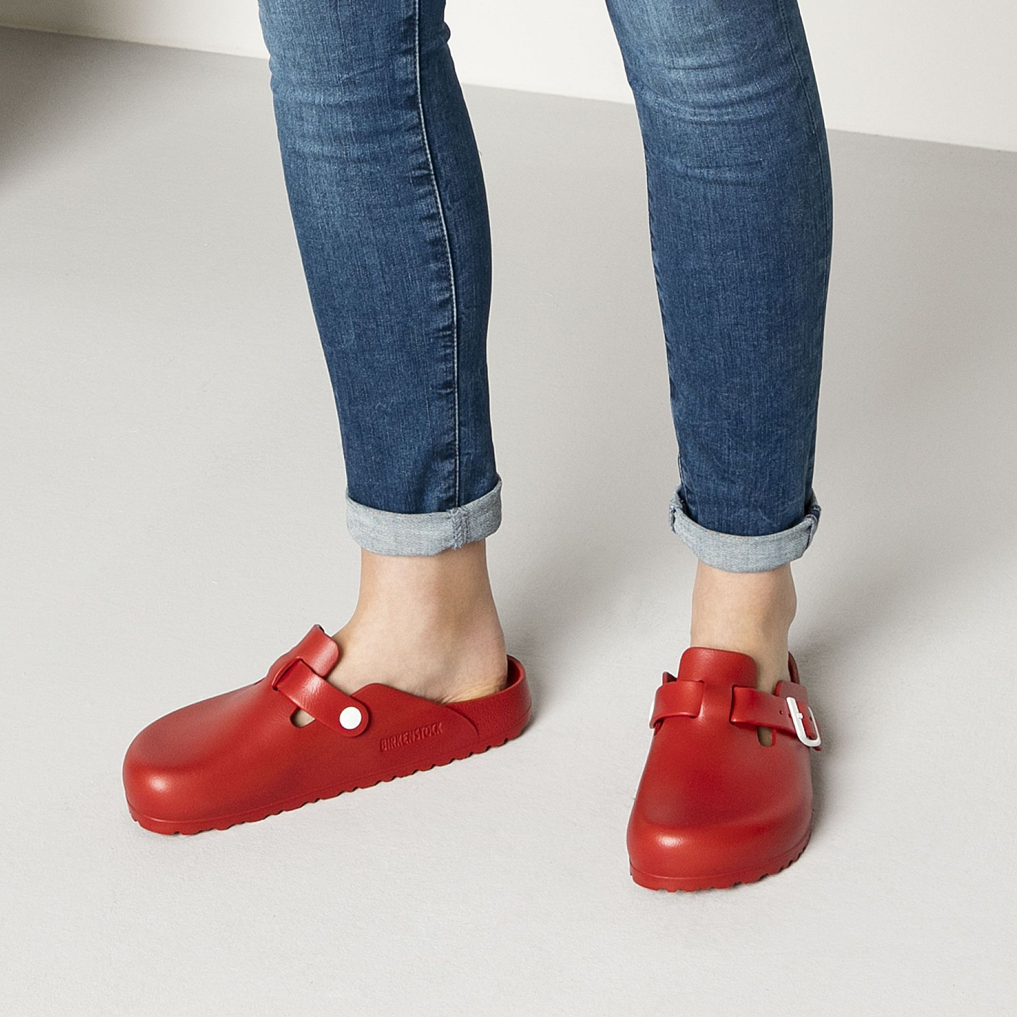 Boston EVA Red | Crystal shoes, Birkenstock, Shoe boots