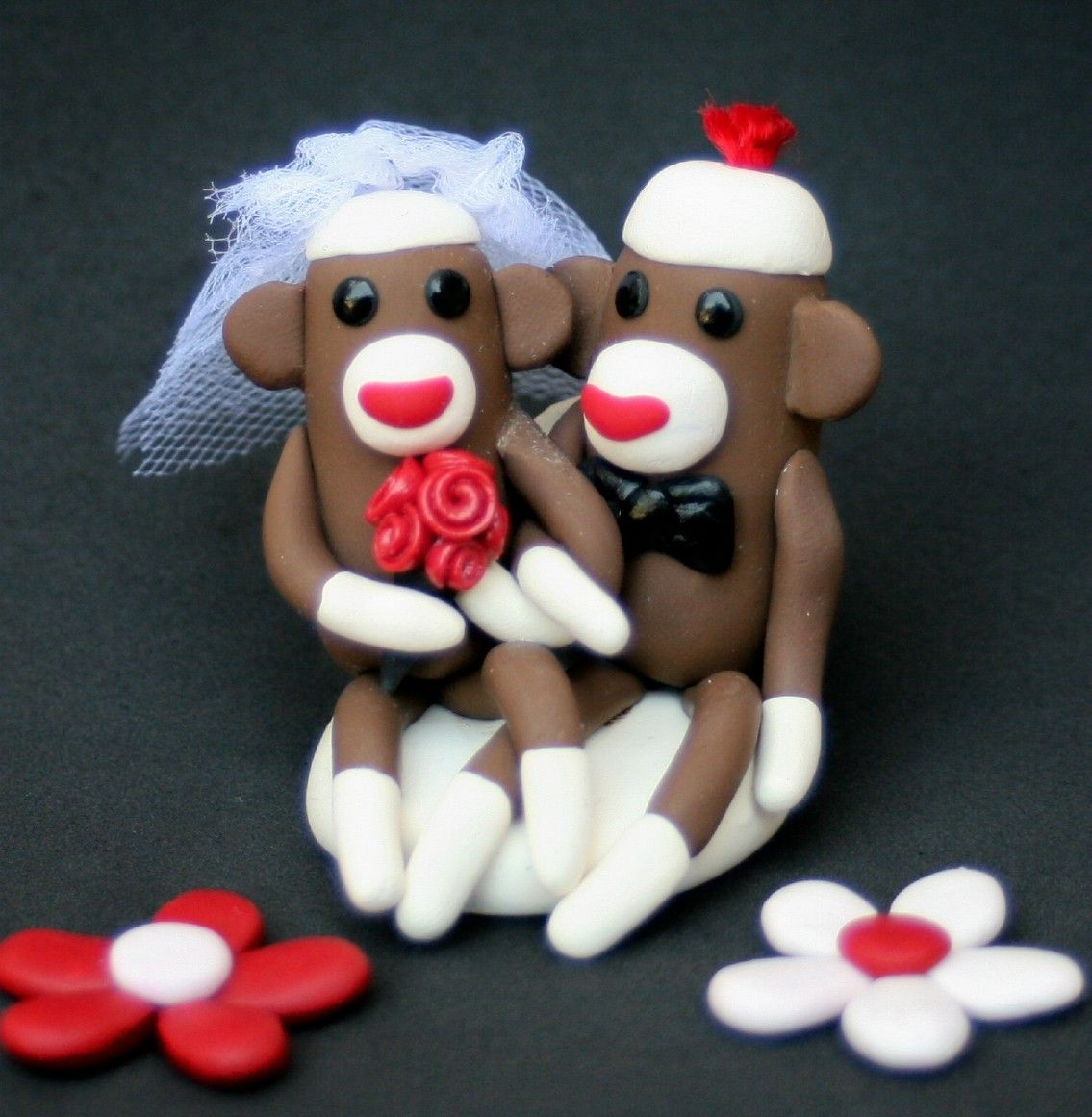 Sock Monkey Wedding Cake Topper , via Etsy.